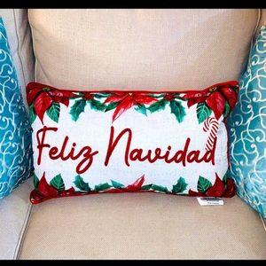 Feliz Navidad Pillow NWT